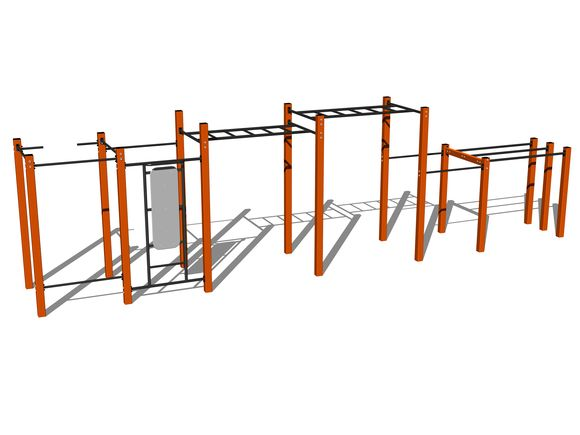 Street-Workout-Kombination WS025OD - orange