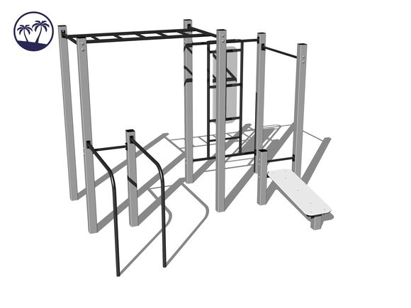 Street-Workout-Kombination WS016SD - silber