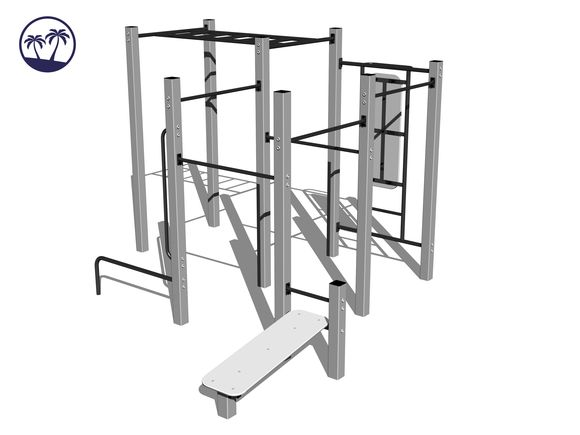 Street-Workout-Kombination WS020SD - silber