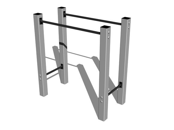Street workout element WP002SD - silber