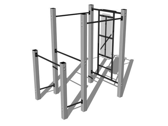 Street-Workout-Kombination WS008SD - silber