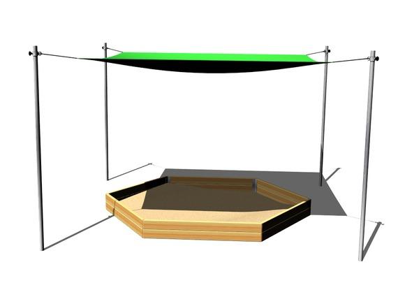 sonnenschutz f r 6kant sandkasten zp600 spielplatze. Black Bedroom Furniture Sets. Home Design Ideas