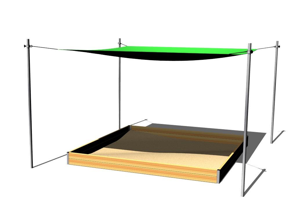 sonnenschutz f r sandkasten 3x3 m zp330 spielplatze. Black Bedroom Furniture Sets. Home Design Ideas