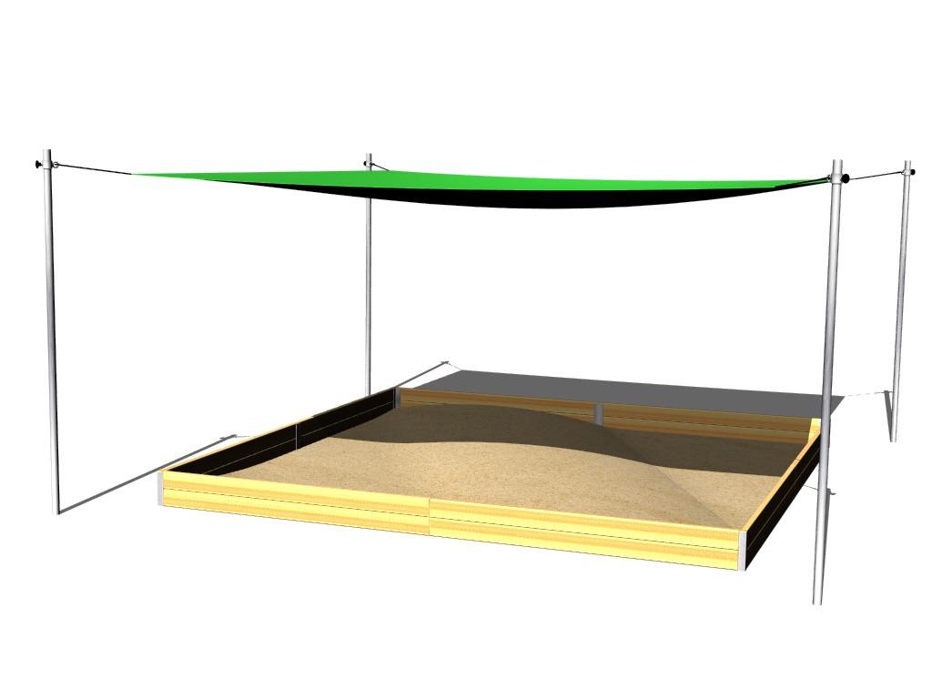 sonnenschutz f r sandkasten 4x4 m zp440 spielplatze. Black Bedroom Furniture Sets. Home Design Ideas